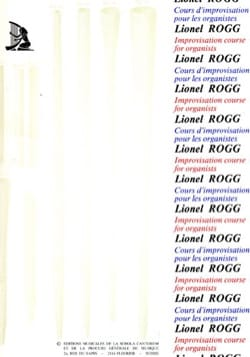 Lionel Rogg - Improvisation course Volume 1 tonal - Sheet Music - di-arezzo.com