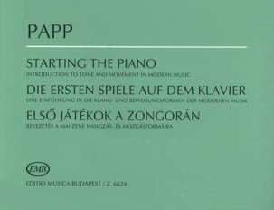 Starting The Piano - Lajos Papp - Partition - Piano - laflutedepan.com