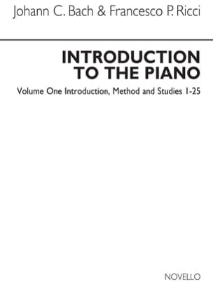 Introduction To The Piano Volume 1 Bach JC / Ricci laflutedepan
