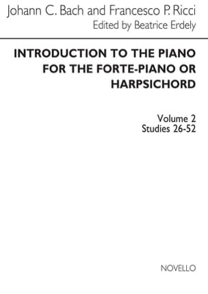 Introduction To The Piano Volume 2 Bach JC / Ricci laflutedepan