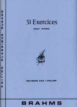BRAHMS - 51 Exercises - Sheet Music - di-arezzo.co.uk
