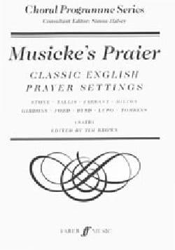 Musicke's Praier - Partition - Chœur - laflutedepan.com