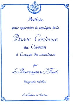 Bourmayan - Frisch - Bass continues to the harpsichord - Sheet Music - di-arezzo.co.uk