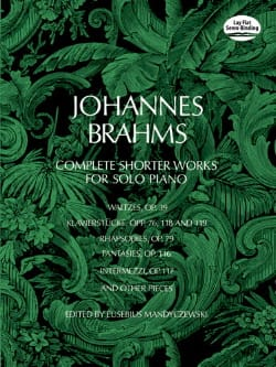 Complete Shorter Works BRAHMS Partition Piano - laflutedepan