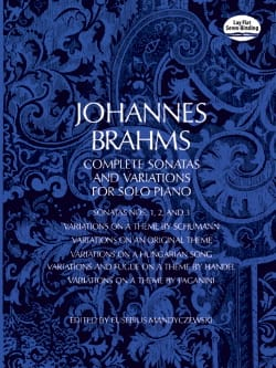 Johannes Brahms - Complete Sonatas and Variations - Partition - di-arezzo.fr