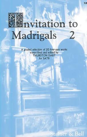 Invitation To Madrigals Volume 2 Partition Chœur - laflutedepan