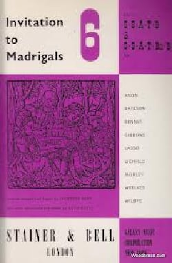 - Invitation To Madrigals Volume 6 - Partition - di-arezzo.fr