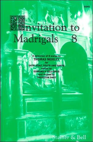 Thomas Morley - Invitation To Madrigals Volume 8 - Partition - di-arezzo.fr