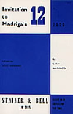 Luca Marenzio - Invitation To Madrigals Volume 12 - Partition - di-arezzo.fr