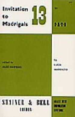 Invitation To Madrigals Volume 13 - Partition - laflutedepan.com