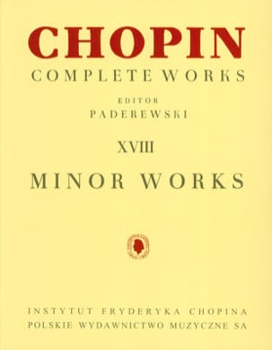 Complete Minor Works CHOPIN Partition Piano - laflutedepan