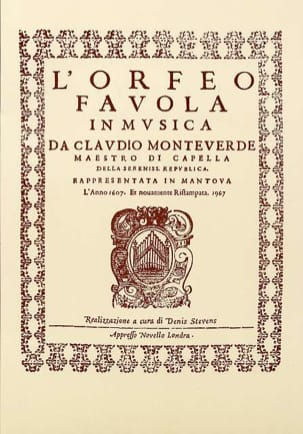 Claudio Monteverdi - Orfeo - Sheet Music - di-arezzo.co.uk