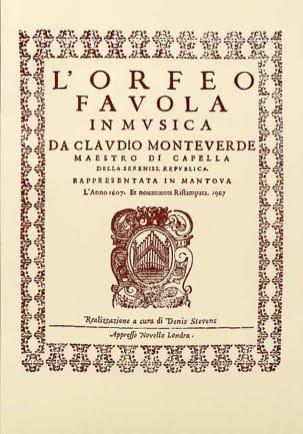 Claudio Monteverdi - Orfeo - Partition - di-arezzo.fr
