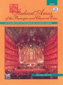 - Italian Arias Of The Baroque And Classical Eras Voix Medium - Partition - di-arezzo.fr