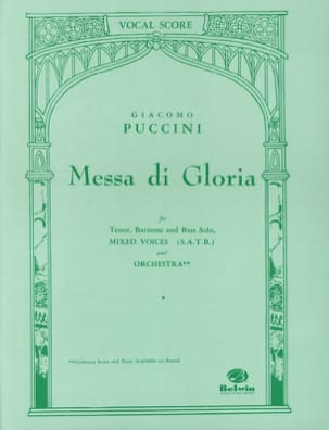 Giacomo Puccini - Messa di Gloria - Sheet Music - di-arezzo.co.uk