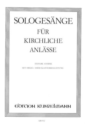 - Sologesänge Für Kirchliche Anlässe - Partition - di-arezzo.fr