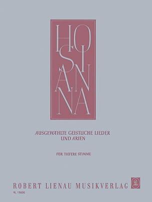 Hosianna. Voix Grave Partition Mélodies - laflutedepan