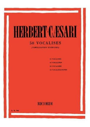 Herbert-Caesari - 50 Vocalises - Sheet Music - di-arezzo.co.uk