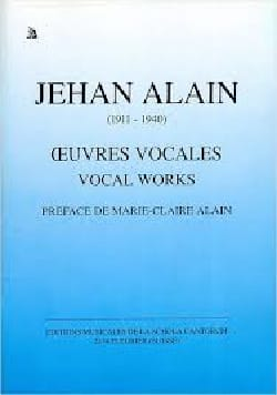 Jehan Alain - Vocal Works - Sheet Music - di-arezzo.co.uk