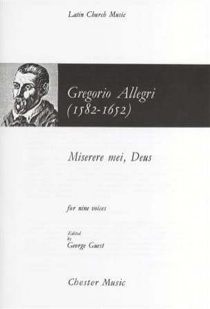 Gregorio Allegri - Miserere - Sheet Music - di-arezzo.co.uk