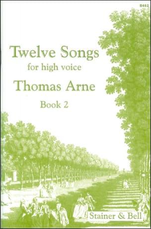 12 Songs Vol 2 - Thomas Augustine Arne - Partition - laflutedepan.com