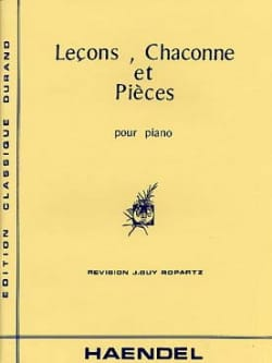 HAENDEL - Lessons, Chaconne and Pieces - Sheet Music - di-arezzo.co.uk