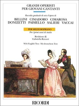 - Grandi Operisti Per Giovani Cantanti. Mezzo - Partition - di-arezzo.fr