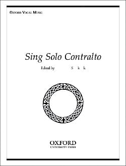 Sing Solo Contralto - Sheet Music - di-arezzo.co.uk