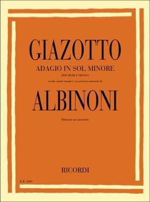 Adagio. Piano Albinoni Tomaso / Giazotto Partition laflutedepan