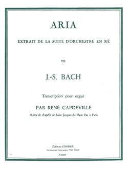BACH - Aria of the Suite In Re - Sheet Music - di-arezzo.com