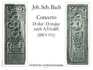 BACH - Concerto En Ré Majeur D'après Vivaldi BWV 972 - Partition - di-arezzo.fr