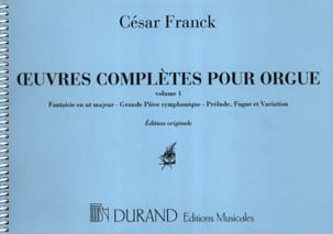 César Franck - Complete Works for Organ - Volume 1 - Sheet Music - di-arezzo.co.uk
