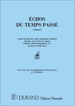 - Echoes Of Time Past Volume 1 - Sheet Music - di-arezzo.com