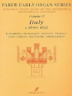 Early Organ Series Vol 17. Italie 1600-1635 - Partition - di-arezzo.fr