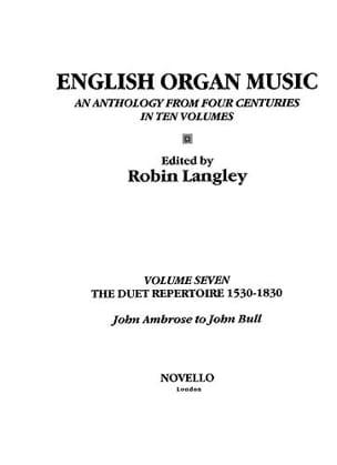 English Organ Music Volume 7. Archive - laflutedepan.com