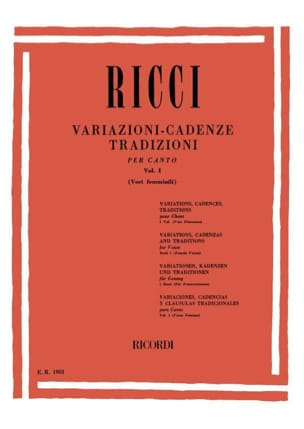 Luigi Ricci - Variations. Cadences. Traditions Volume 1 - Partition - di-arezzo.fr