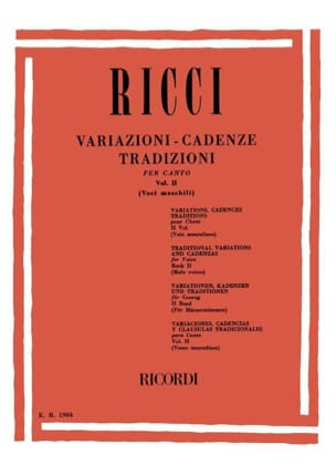 Luigi Ricci - Variations. Cadences. Traditions Volume 2 - Sheet Music - di-arezzo.co.uk