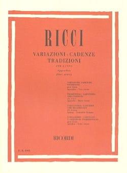 Luigi Ricci - バリエーション。リズム。伝統、付録1 - 楽譜 - di-arezzo.jp