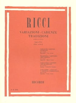 Luigi Ricci - Variationen. Kadenzen. Traditionen, Anhang 1 - Noten - di-arezzo.de