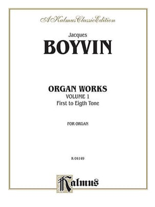 Jacques Boyvin - Works for organ. Volume 1 - Sheet Music - di-arezzo.co.uk