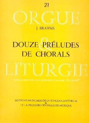 12 Préludes de Chorals BRAHMS Partition Orgue - laflutedepan