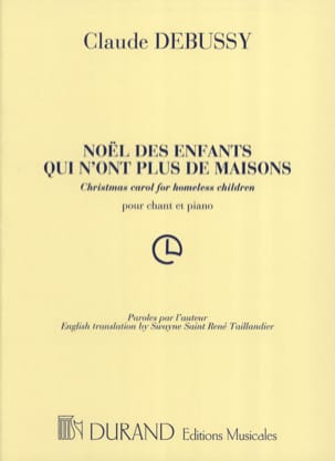 DEBUSSY - Christmas Children Who Are No More Houses - Sheet Music - di-arezzo.com