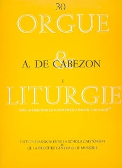 Antonio de Cabezon - Oeuvres Pour Orgue Volume 1 - Partition - di-arezzo.fr