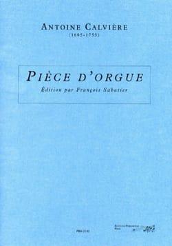 Antoine Calvière - Pièce D'Orgue - Partition - di-arezzo.fr