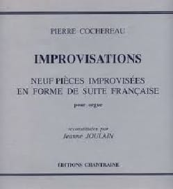 Improvisations Pierre Cochereau Partition Orgue - laflutedepan