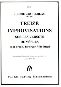Pierre Cochereau - 13 Improvisations on Verse's Verses - Partition - di-arezzo.co.uk