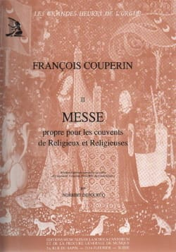 François Couperin - Mass for the convents - Partition - di-arezzo.co.uk