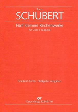 5 Kleine Kirchenwerke - Franz Schubert - Partition - laflutedepan.com