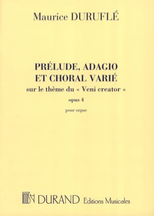 Maurice Duruflé - Prelude, Adagio and Choral Varied Opus 4 - Sheet Music - di-arezzo.co.uk