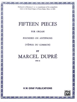 Marcel Dupré - 15 Pieces Opus 18 - Sheet Music - di-arezzo.co.uk